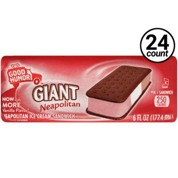 Good Humor, GIANT Neapolitan Sandwich (24 Count)