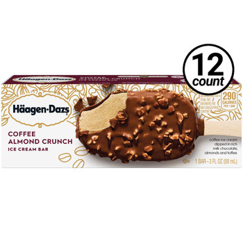 Haagen-Dazs, Coffee and Almond Crunch Bar, 3.67 oz. (12 Count)