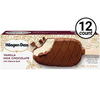 Haagen-Dazs, Vanilla Milk Chocolate Bar, 3.0 oz. (12 Count)