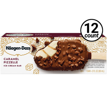 Haagen-Dazs, Caramel Pizzelle Bar, 3.67 oz. (12 Count)