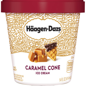 Haagen-Dazs, Caramel Cone Ice Cream, Pint (1 Count)