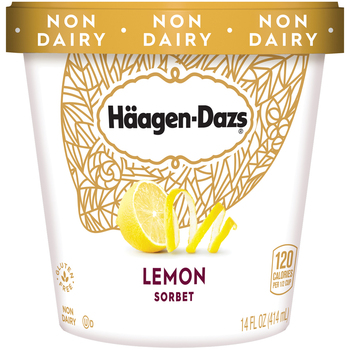 Haagen-Dazs, Lemon Sorbet, Pint (1 Count)