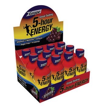 5-hour Energy, Grape Flavor, 1.93 oz. (12 Count)