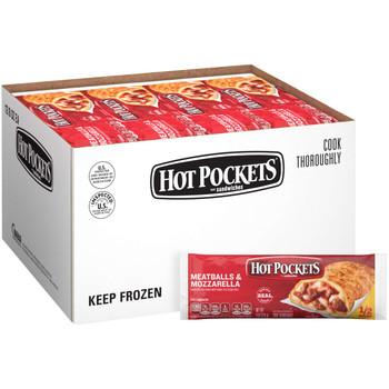 Hot Pockets, Meatballs & Mozzarella, 8 oz. Sandwich (12 Count)