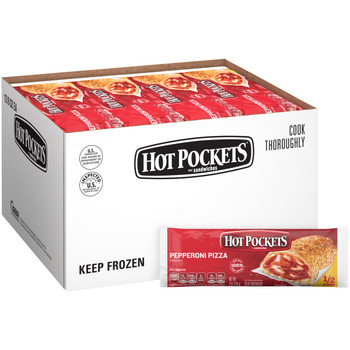 Hot Pockets, Pepperoni Pizza, 8 oz. Sandwich (12 Count)