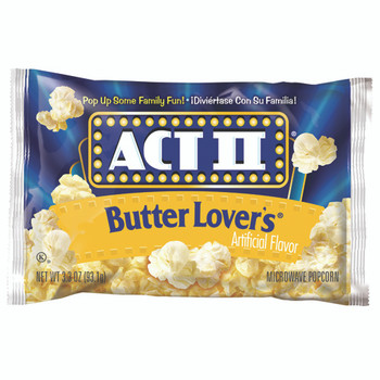 ACT II Popcorn, Butter Lovers, 2.75 oz. Microwavable Bag (1 Count)