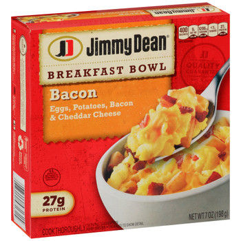 Jimmy Dean, Breakfast Bowls, Bacon, 7.0 oz. (1 Count)