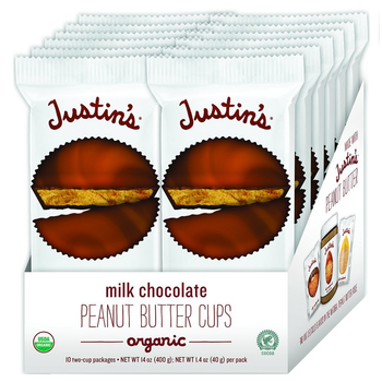 Justin's, Milk Chocolate Peanut Butter Cups, 1.4 oz. (12 Count)