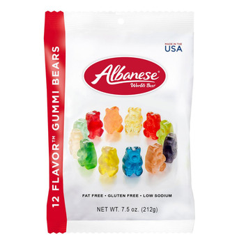 Albanese, 12-Flavor Gummi Bears, 7.5 oz. Peg Bag (1 Count)