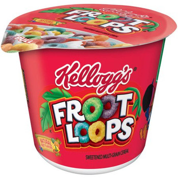 Kellogg's Cereal in a Cup, Froot Loops, 1.5 oz. Bowl (1 Count)