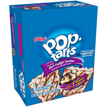Kellogg's Pop-Tarts, Frosted Hot Fudge Sundae, 2-3.38 oz. Pastries (6 Count)