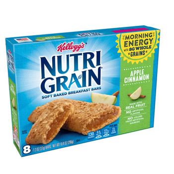 Kellogg's, Nutri-Grain Cereal Bar, Apple Cinnamon, 1.3 oz. Bars (8 Count)