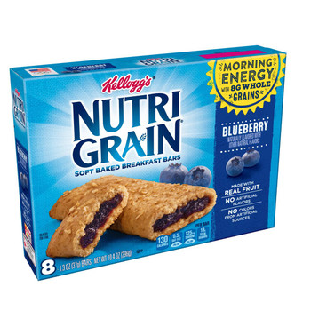 Kellogg's, Nutri-Grain Cereal Bar, Blueberry, 1.3 oz. Bars (8 Count)