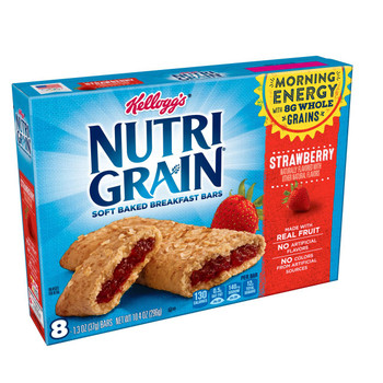 Kellogg's, Nutri-Grain Cereal Bar, Strawberry, 1.3 oz. Bars (8 Count)