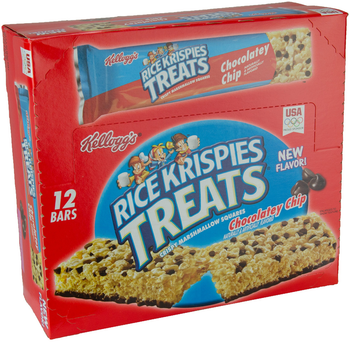 Kellogg's, Rice Krispies Treats, Chocolatey Chip, King Size, 2.9 oz. Bars (12 Count)