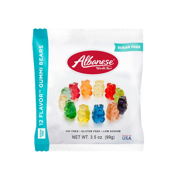 Albanese, Sugar Free 12 Flavor Bears, 3.5 oz. Peg Bag (1 Count)