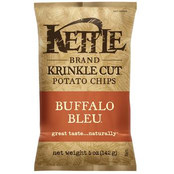 Kettle Brand, Krinkle Cut, Buffalo Bleu, 5.0 oz. Bag (1 Count)