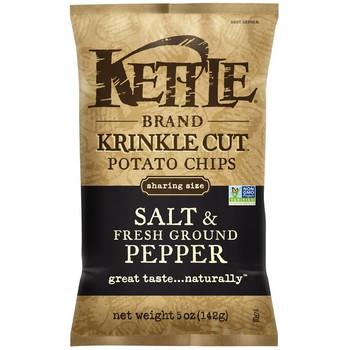 Kettle Brand, Krinkle Cut, Salt & Fresh Ground Pepper, 5.0 oz. Bag (1 Count)