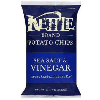 Kettle Brand, Sea Salt and Vinegar, 5.0 oz. Bag (1 Count)