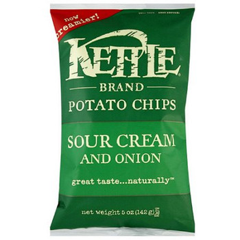 Kettle Brand, Sour Cream & Onion, 5.0 oz. Bag (1 Count)