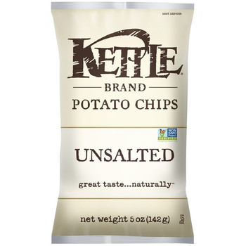 Kettle Brand, Unsalted, 5.0 oz. Bag (1 Count)