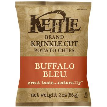Kettle Brand, Krinkle Cut, Buffalo Bleu, 2.0 oz. Bag (1 Count)