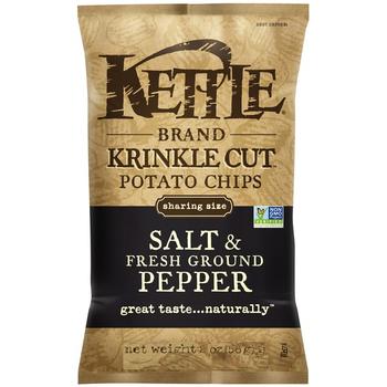 Kettle Brand, Krinkle Cut, Salt & Fresh Ground Pepper, 2.0 oz. Bag (1 Count)