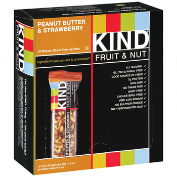 KIND Fruit & Nut, Peanut Butter & Strawberry, 1.4 oz. Bars (12 Count)