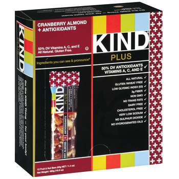 KIND, Cranberry & Almond + Antioxidants, 1.4 oz. Bars (12 Count)