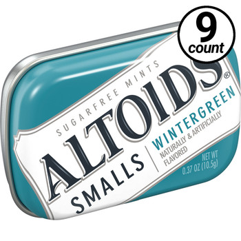 Altoids Smalls, Wintergreen, 0.37 oz. Tins (9 Count)