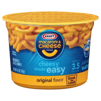 Kraft Macaroni and Cheese, Original Flavor, 4.1 oz. Big Microwavable Bowl (1 Count)