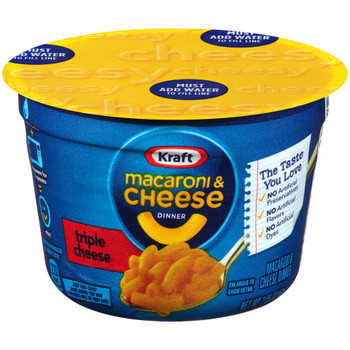 Kraft Macaroni and Cheese, Triple Cheese, 2.05 oz. Microwavable Bowl (1 Count)