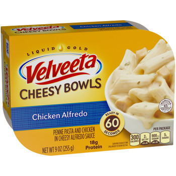 Kraft Velveeta Cheesy Skillets Singles, Chicken Alfredo, Microwaveable, 9 oz. (1 Count)