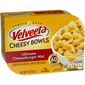 Kraft Velveeta Cheesy Skillets Singles, Ultimate Cheeseburger Mac, 9.0 oz. (1 Count)