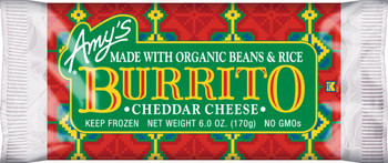 Amy's Kitchen, Bean & Cheese Burrito, 6.0 oz. Entree (1 Count)