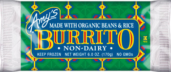 Amy's Kitchen, Bean & Rice Burrito - NON-DAIRY, 6.0 oz. Entree (1 Count)