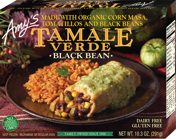 Amy's Kitchen, Black Bean Tamale Verde, 10.3 oz. Entree (1 Count)