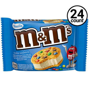 M&M's, Cookie Ice Cream Sandwich, 4.25 oz. Sandwich (24 Count)