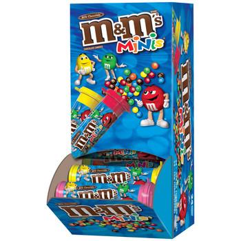 M&M's, Chocolate Candies Minis, Milk Chocolate, 1.08 oz. Tubes (24 Count)
