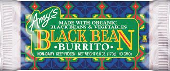 Amy's Kitchen, Black Bean Vegetable Burrito, 6.0 oz. Entree (1 Count)