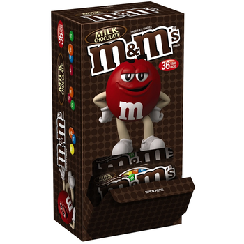 M&M's, Chocolate Candies, Milk Chocolate, 1.69 oz. Bags (36 Count)