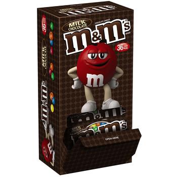M&M's, Chocolate Candies, Milk Chocolate, 1.69 oz. Bags (36 Count)