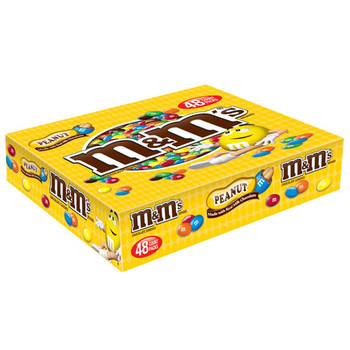 M&M's, Chocolate Candies, Peanut, 1.74 oz. Bags (48 Count)
