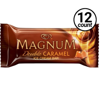 Magnum, Double Caramel Ice Cream Bar, 3.38 oz. Bar (12 Count)