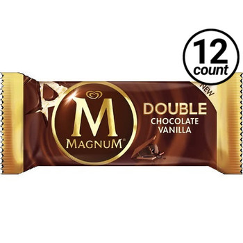 Magnum, Double Chocolate Vanilla Ice Cream Bar, 3.04 oz. Bar (12 Count)