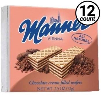Manner Vienna, Chocolate Cream Filled Wafers, 2.54 oz. (12 Count)