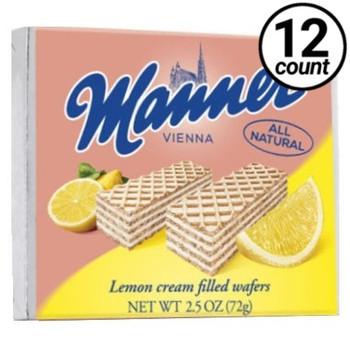Manner Vienna, Lemon Cream Filled Wafers, 2.54 oz. (12 Count)