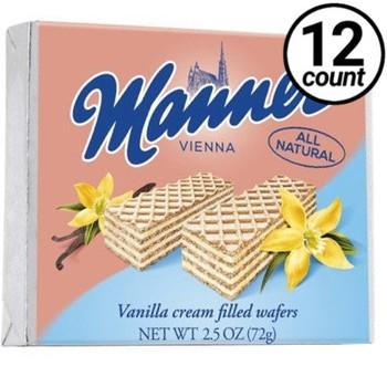 Manner Vienna, Vanilla Cream Filled Wafers, 2.54 oz. (12 Count)