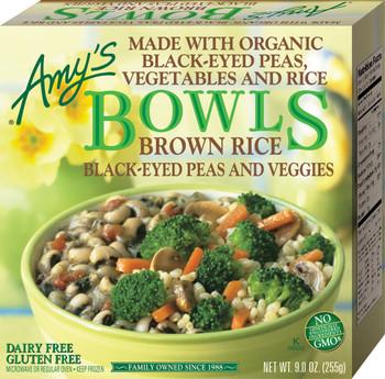 Amy's Kitchen, Brown Rice, Black-Eyed Peas & Veggies Bowl, 9.0 oz. Entree (1 Count)