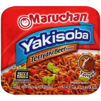 Maruchan, Yakisoba Home-Style Japanese Noodles, Teryaki Beef 4.0 oz. (1 Count)